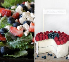 Cheese & Salad: Two Savory Red, White & Blue Dishes for the 4th of July Recipe