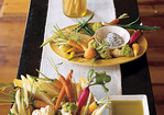 Simple Appetizer: Fresh Veggies with Olive Oil and Sea Salt Recipe