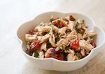 Chicken Salad with Roasted Bell Peppers and Toasted Almonds Recipe
