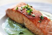 Pan Seared Salmon with Avocado Remoulade Recipe