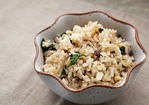Rice Pilaf with Mushrooms and Pine Nuts Recipe