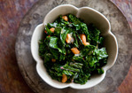 Sautéed Kale with Toasted Cashews Recipe