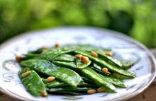 Snow Peas with Pine Nuts and Mint Recipe
