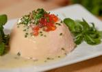 Lobster mousse with warm champagne and chive sauce Recipe