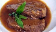 Braised steak with gravy Recipe