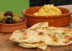 Naan bread with squash and tahini dip Recipe