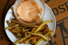 Roasted Slap Fries with Srirachannaise Recipe