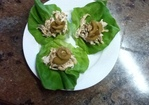 Vietnamese Flavored Chicken Salad Lettuce Wraps with Spicy Cucumbers Recipe