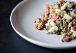 Smoked Lentil Salad with Sriracha Miso Mayonnaise Recipe