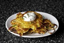 parsnip latkes with horseradish and dill Recipe