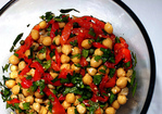chickpea salad with roasted red peppers Recipe