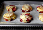 strawberries and cream biscuits Recipe