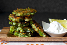 broccoli parmesan fritters Recipe