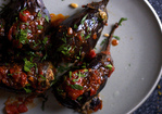 lebanese-style stuffed eggplant Recipe