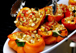 smoke-roasted stuffed bell peppers Recipe