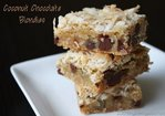 Coconut Chocolate Chunk Blondies Recipe
