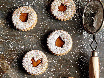 Spiced Linzer Cookies Recipe from My Baking Addiction on FoodPair