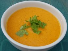 Chilled Spice-Roasted Carrot Soup with Yogurt Recipe
