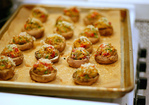 sundried tomato stuffed mushrooms Recipe