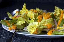 avocado salad with carrot-ginger dressing Recipe