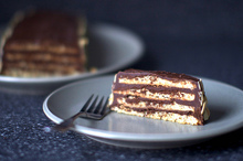 almond macaroon torte with chocolate frosting Recipe
