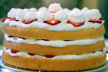 strawberry chiffon shortcake Recipe
