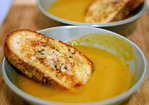 winter squash soup with gruyere croutons Recipe