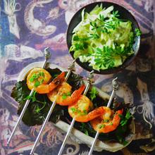 Honey-glazed shrimp Recipe