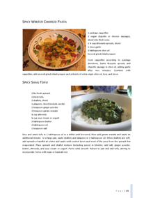 Spicy Saag Tofu Recipe