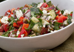Chopped Greek Salad with Fresh Herbs Recipe