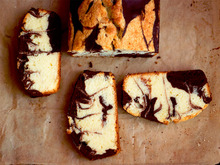 Almond-Chocolate Marble Pound Cake Recipe