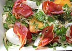 Tyler Florence's Peach, Mozzarella, and Crispy Prosciutto Salad Recipe