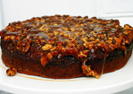 caramel walnut upside down banana cake Recipe
