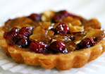cranberry, caramel and almond tart Recipe