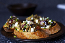 eggplant salad toasts Recipe