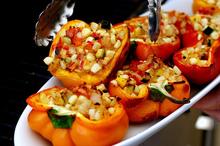 smoke-roasted stuffed bell peppers Recipe
