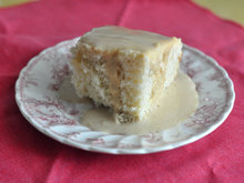Cottage Pudding with Brandy Caramel Sauce Recipe