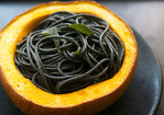 Squid Ink Pasta with Pumpkin, Sage and Browned Butter Recipe