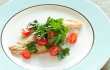 Sautéed Catfish with Parsley and Tomato Salad Recipe