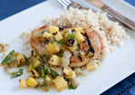 Chicken Breasts with Grilled Pineapple and Tomatillo Salsa Recipe