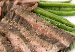 Wine-Poached Steak with Haricots Verts Recipe