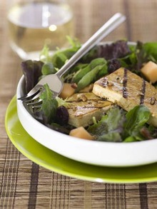 Grilled Tofu and Melon Salad Recipe