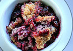 Berry Cobbler with Coconut Walnut Topping Recipe