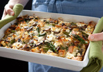 Portobello and Asparagus Egg Strata Recipe