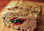 Stuffed Meatloaf with Spinach and Red Bell Pepper Recipe