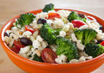 Warm Orzo Salad with Broccoli and Tomatoes Recipe
