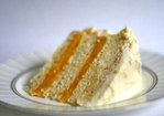 Triple-Layer White Cake with Orange Curd Filling Recipe