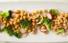 Chickpea and Broccoli Salad with Flax-Tahini Dressing Recipe