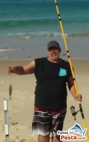 foto Xerelete com Camarão Morto em Praia de Itaipuatu - Pescado na parte da tarde na praia de Itaipuaçu, arremeços na segunda valetinha.