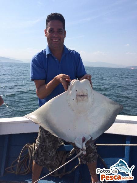 foto Arraia com File de Peixe em Cascalho - Pesca de fundo com filé de sardinha em São Vicente